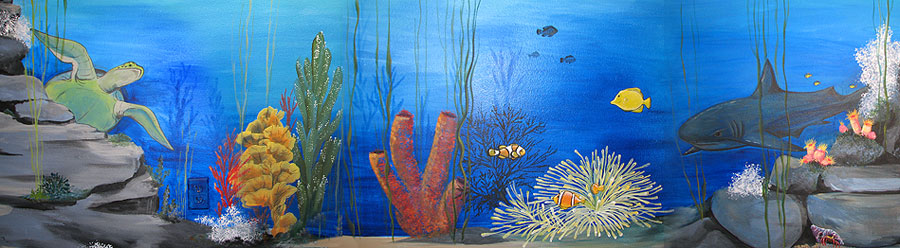 Under the sea wall mural under the sea wall mural 252 for Underwater mural ideas